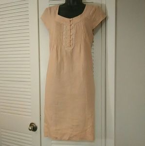 Maeve Anthropologie small linen peasant dress